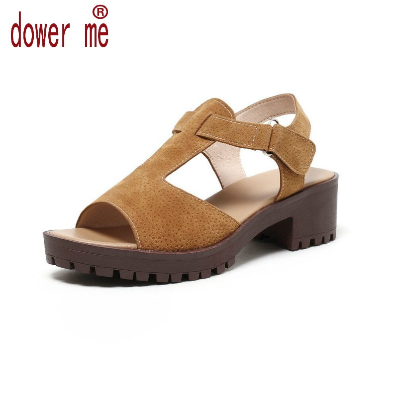 Dower Me 2017 Summer Shoes Woman Platform Sandals Women Soft Leather Casual Open Toe Gladiator Buckle Women Shoes Zapatos Mujer 2017 summer shoes woman platform sandals women soft leather casual open toe gladiator wedges women shoes zapatos mujer
