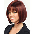 2016 New Fashion Bob Hair Heat Resistant Short  Straight Wine Red Blonde Wig Synthetic Two Tone Perucas Free Shipping