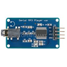 MP3 module UART Control Serial MP3 Player with Headphone Output Speaker MicroSD Card Sound Speaker Module for Arduino UNO(China)