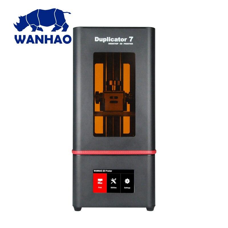 2018 Новый Wanhao D7 плюс 3D-принтеры DLP SLA Дубликатор D7 плюс 3d машины ЖК-дисплей Сенсорный экран 250 мл УФ смолы и FEP пленка для бесплатная