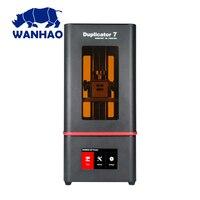 2019 nova wanhao d7 mais impressora 3d dlp sla duplicador d7 mais 3d máquina lcd tela de toque 250ml resina uv & fep filme para livre