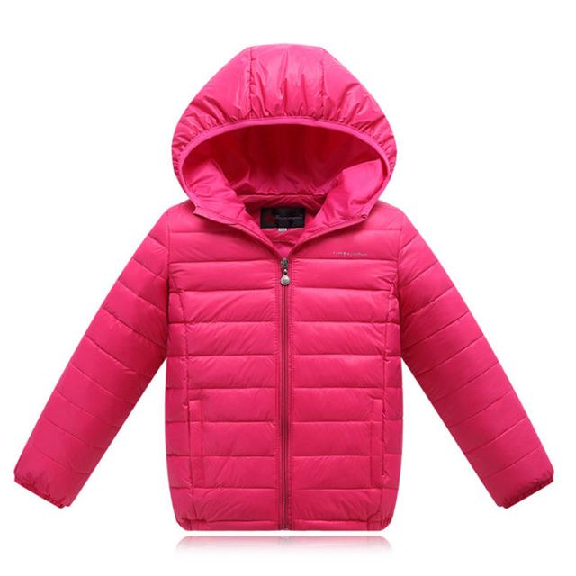 Niños y niñas encantadoras Parkas chaqueta de pato Blanco de Alta calidad de la marca de invierno Solid niños de down Abrigos Abrigos