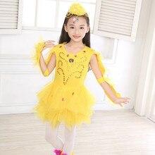Желтый костюм цыпленка, Детская праздничная одежда с животными, Детский костюм цыпленка, танцевальный костюм цыпленка, платье цыпленка для девочек