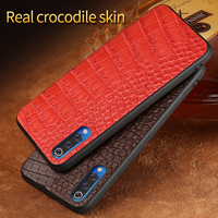 Luxury Leather cases for Xiaomi 9 9 se Real crocodile Leather back cover for Xiaomi 8 8se 6 6 x protect funda For Redmi Note 7