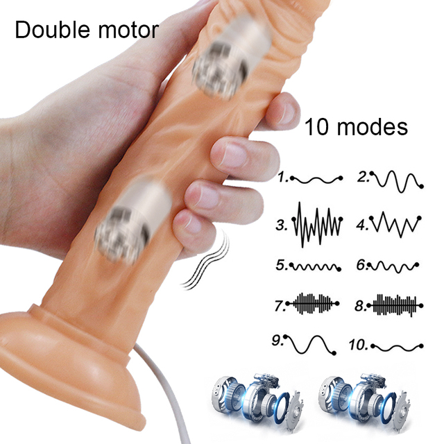 HWOK Realistic Huge Dildo Vibrator With Suction Cup Artificial Big Penis Toys for Women Adults Soft Female Masturbator Massager 2