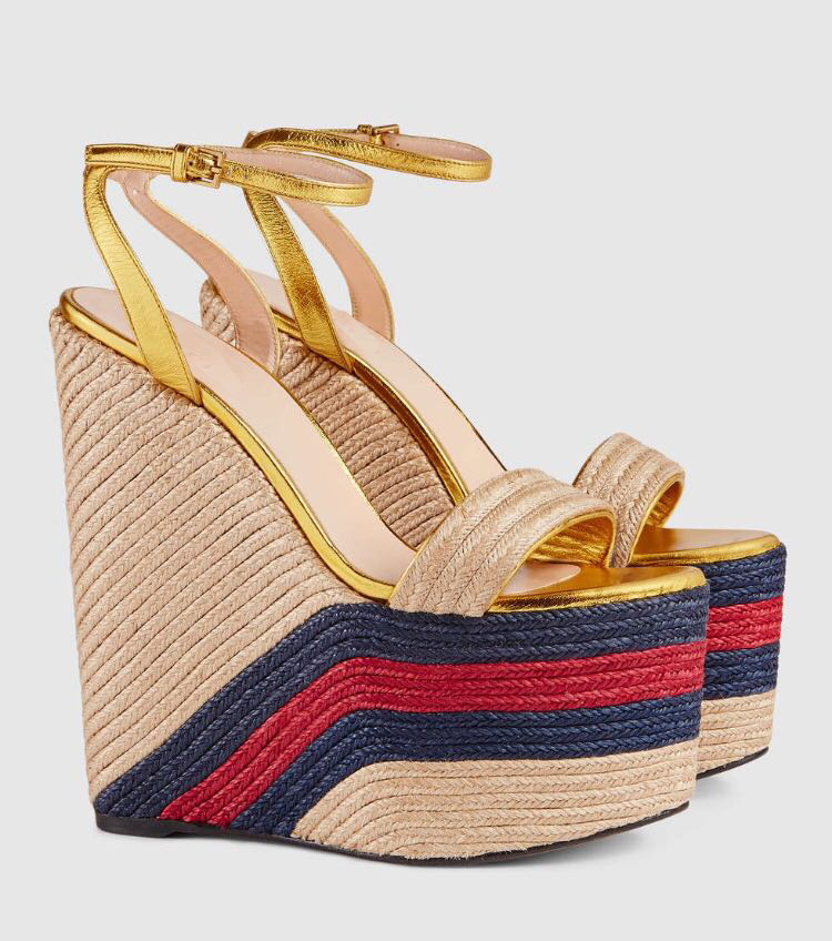 Fashion Rope Braided Platform Wedge Sandal 2018 Sexy Open Toe Ankle Strap Woman Shoes Ultra High Mixed Colors Summer Heels sexy mixed color stiletto heels sandal open toe ladies summer gladiator sandals rope knot ankle strappy shoes woman