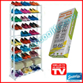 Free Shipping! 10 Layer Home Shoe Rack Organizer Portable Closet Cabinet Shelf