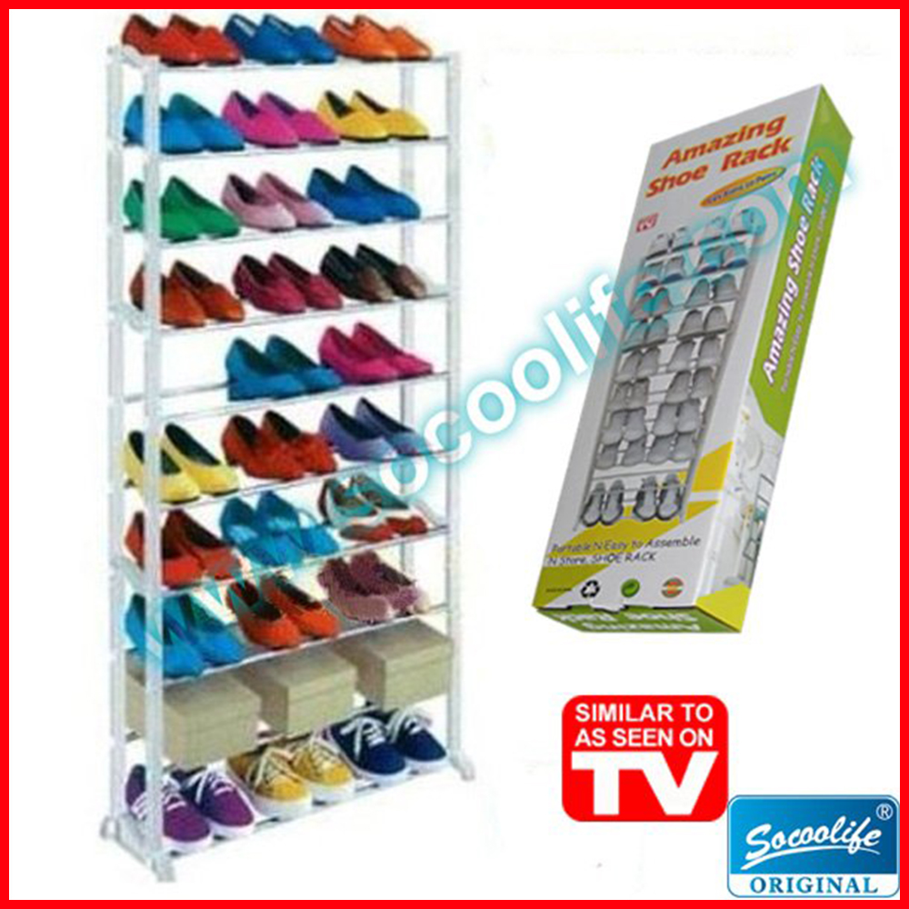 Free Shipping! 10 Layer Home Shoe Rack Organizer Portable Closet Cabinet Shelf