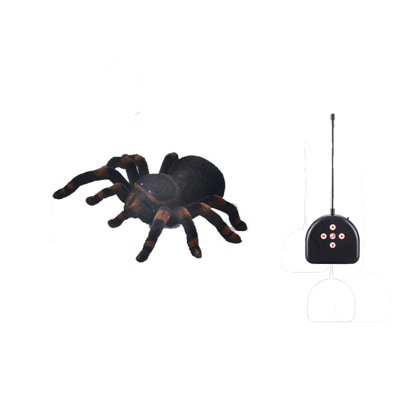 Spiders New Four Channel Remote Control Robot Simulated Tarantula Black Widow Spider Ready to go Boy Electric Toys 5 7 Years