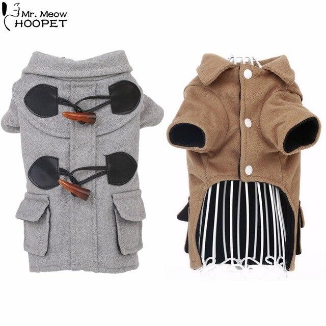 Aliexpress.com : Buy Pet Dog Cat Winter Woolen Duffle Coat Kitten ...
