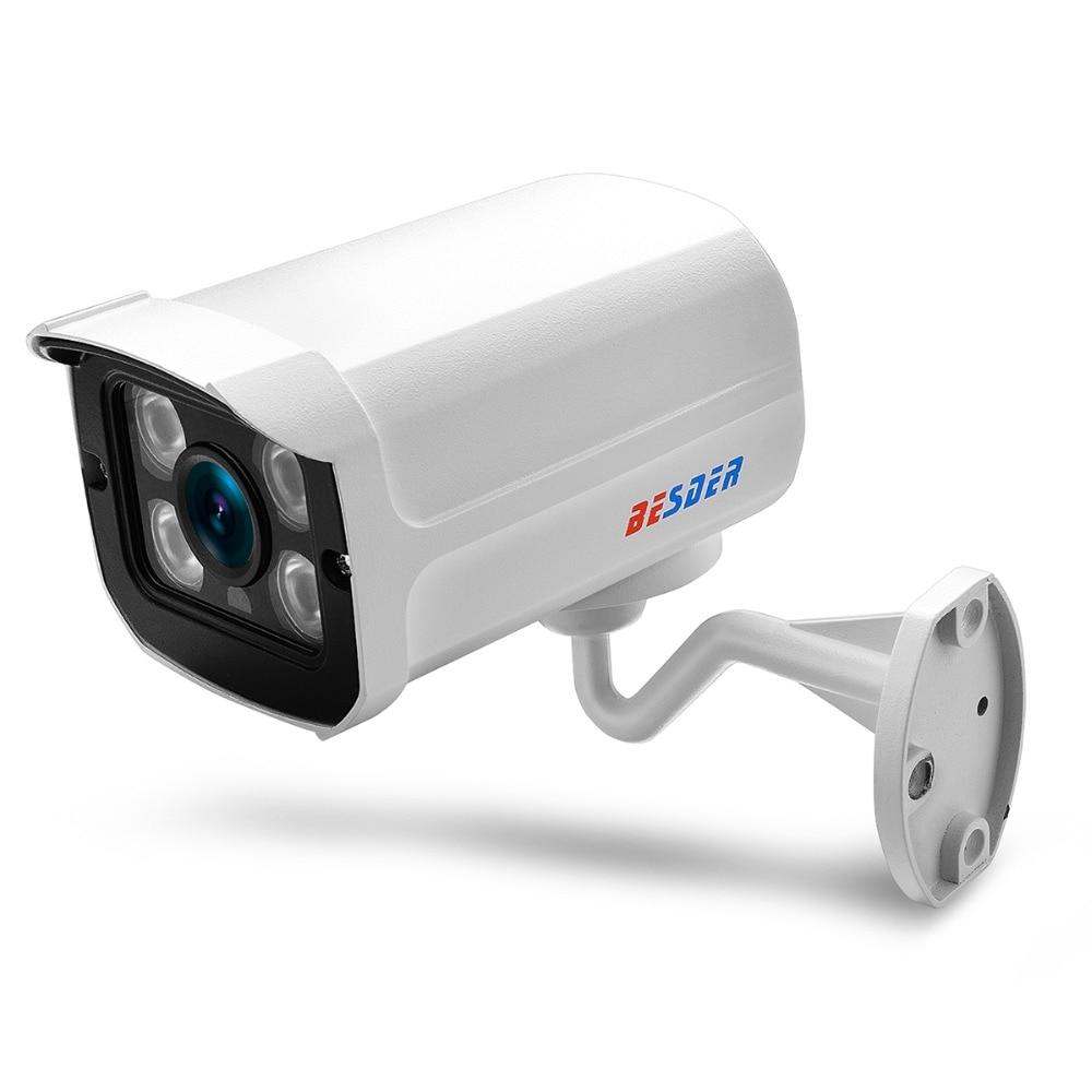 BESDER Wide Angle 2 8mm Outdoor IP Camera PoE 1080P 960P 720P Metal Case ONVIF Security BESDER Wide Angle 2.8mm Outdoor IP Camera PoE 1080P 960P 720P Metal Case ONVIF Security Waterproof IP Camera CCTV 4PCS ARRAY LED