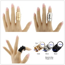 Punk Knight Articular Finger Ring Knuckle Armour Hip Hop Finger Ring Gothic Punk Silvery Ghost Rings Men Brinco Jewelry