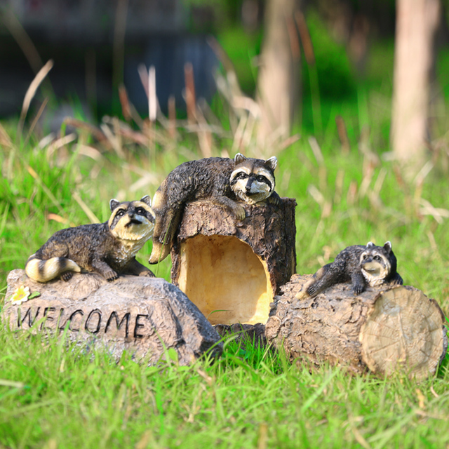 Resin Crafts Simulation Animal Sculptures Home Outdoor Patio Garden  Ornaments Landscape Sloth Stakes Decoration