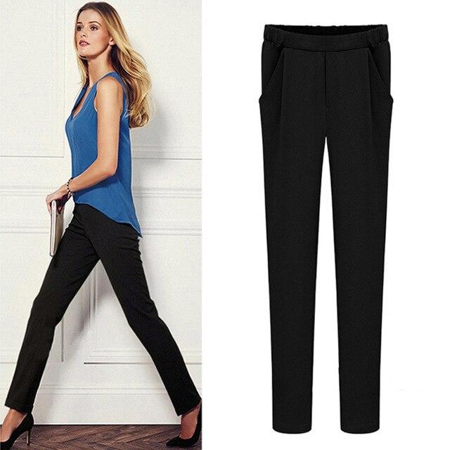 58c39bdffc6 XL-6XL Plus Size Women render Pants 2019 Spring Summer Fashion Leggings  High-end High Waist Elastic Casual Joker Pencil Pants