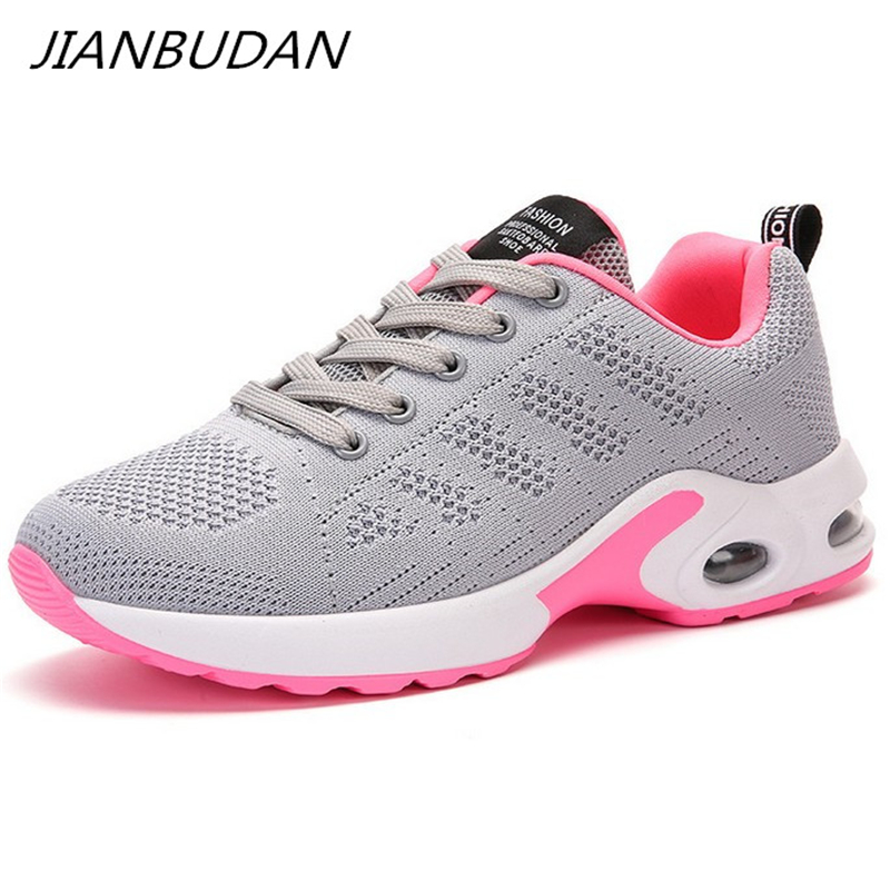 JIANBUDAN Outdoor Casual walking shoes Women 39 s summer mesh breathable sneakers Comfortable fitness shoes Flat shoes 35 40 in Women 39 s Vulcanize Shoes from Shoes