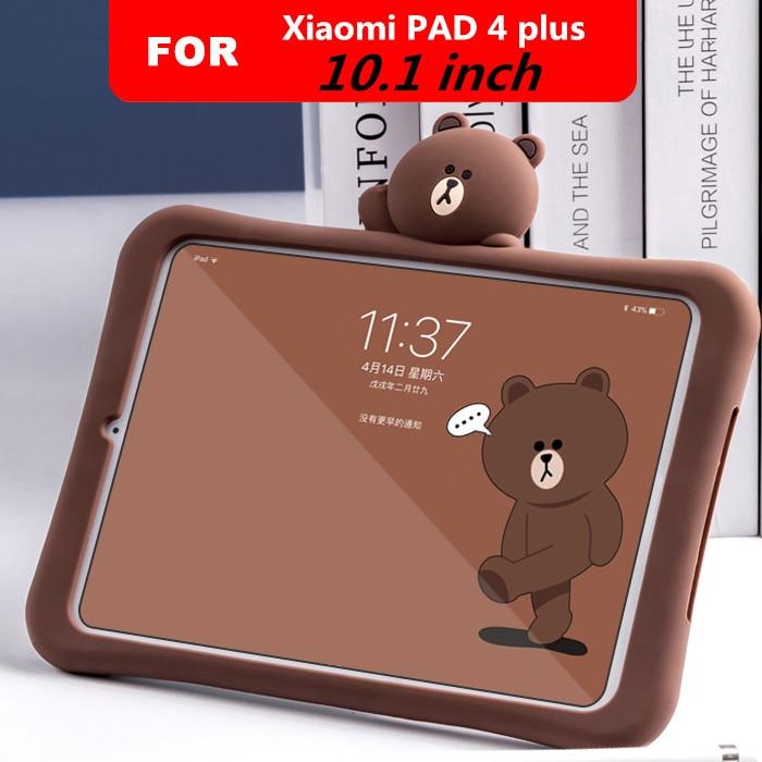 Детский милый мультяшный чехол для Xiaomi Mi Pad 4 Plus pc tablet 10,1  стоячая таблетница Мягкая силиконовая задняя крышка