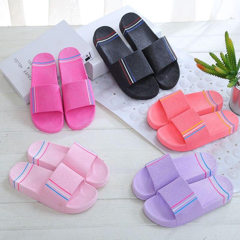 New Sandals and Slippers Slip Home Bathroom Couples Summer Women Bath Indoor