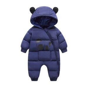 Image 3 - เด็กเสื้อผ้า 2020 New BornฤดูหนาวHooded Rompersผ้าฝ้ายหนาชุดทารกแรกเกิดJumpsuitเครื่องแต่งกายเด็กวัยหัดเดินRomper