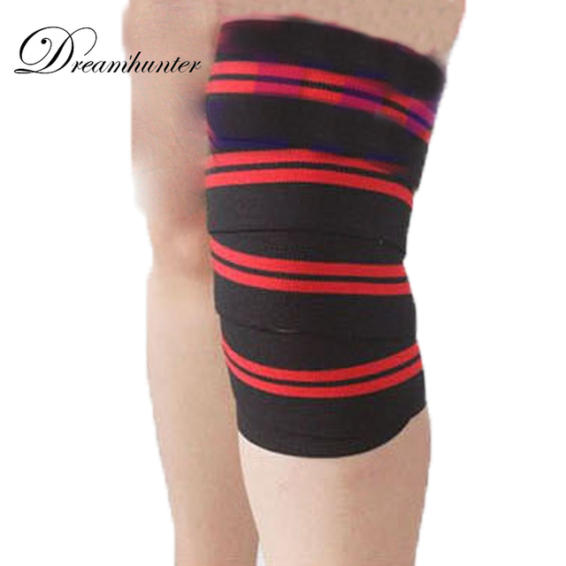 1d34c37504 1PCS Body wraps Bandages Knee pads Bodybuilding Squats Weightlifting  Adjustable Sports Pressurized Leggings Knee brace Support