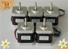 High Quality! Wantai 5PCS Nema17 stepper motor 0.9degree 42BYGHM809 56oz-in 1.7A CE ROHS ISO CNC Router Kit 3D Printer Reprap