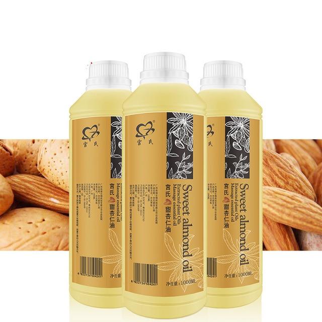 Sweet Almond Oil 1000ml base oil base Essential Oil Moisturizing Massage Massage Body Massage wholesale
