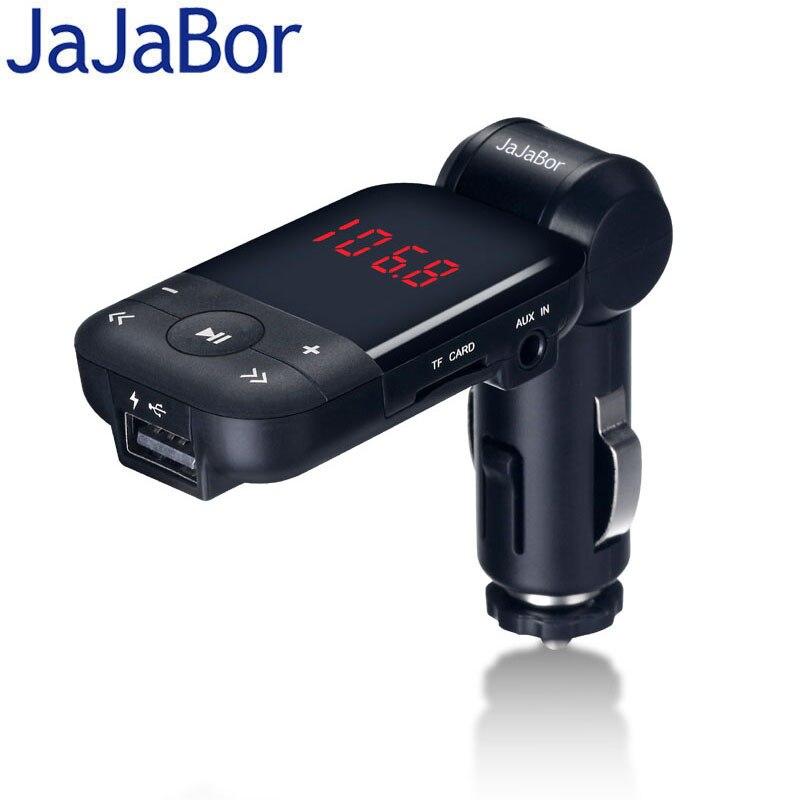 Jajabor автомобильный комплект громкой связи MP3 аудио плеер <font><b>Bluetooth</b></font> fm-передатчик Поддержка U диск TF карты 5 В 2.1A USB Автомобильное зарядное устройст&#8230;