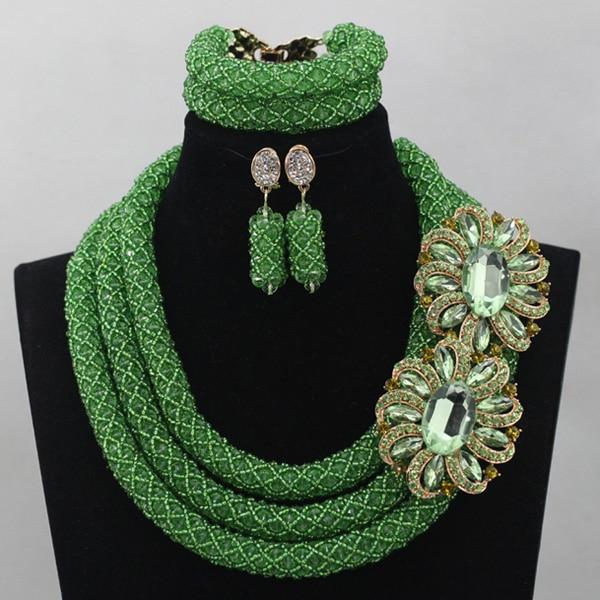 Lovely Women Gift Jewelry Lemon Green Crystal Nigerian Wedding African Beads Jewelry Sets Indian Weeding Free Shipping ABL707 товары для женщин lovely jewelry