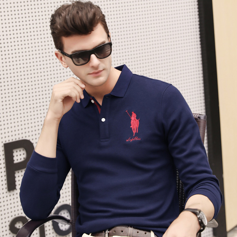 Polo   Shirts Men 2018 Autumn Breathable Cotton   Polo   Shirts Men Long Sleeve Casual Camiseta Masculinas Plus Size   Polos   Sweatshirt