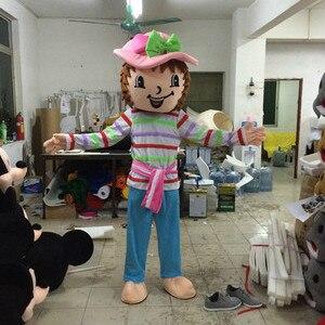Fraise fille mascotte Costumes personnage de dessin animé adulte mascotte marche acteur fraise charlotte Costumes livraison gratuite