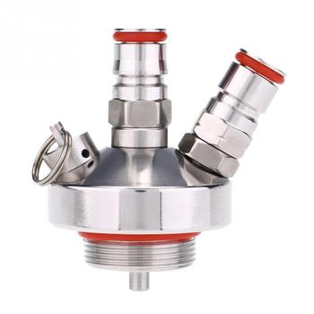 Stainless Steel Mini Keg Tap Dispenser Beer Connector Beer Spear Quick Fitting Connector for Home Brew Marking 1pc a type keg coupler draft beer dispenser for home mayitr brew air valve stainless steel connectors wine beer coupler head