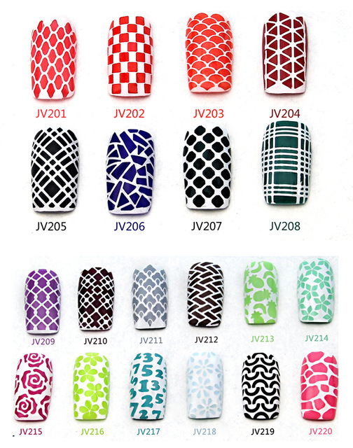 2016 New Style 1 Sheet Nail Art Stencil Stickers Mesh Pattern Vinyls Easy Use JV