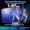 Mais fino Mais Leve Anti Blue Ray Lente lentes de óculos de lente de Óculos de Leitura óptica da Prescrição Miopia Presbiopia lentes opticos