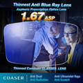 Thinnest Lightest Anti Blue Ray Lens Myopia Presbyopia Prescription optical lenses glasses lens Reading Eyewear lentes opticos