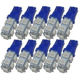 Image 5 - Safego 10x led t10 w5w led 전구 9smd 5050 w5w t10 led 흰색 파란색 자동 자동차 웨지 클리어런스 조명 w5w 194 168 led 인테리어 램프