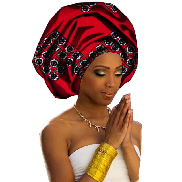 Women Headwear Print Fabric Headwrap African Head Wrap Tie Scarf Twist Hair  Band Turban Bandana Bandage a38588366dc