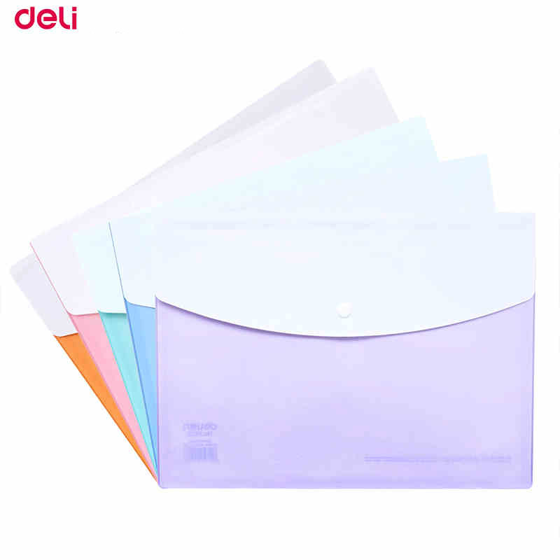 Deli File Folder Stationery 20pcs/Pack A4 Size Organ Bag