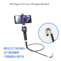 5.5mm Two Way Articulate 180 Degree Rotating Camera Mobile Direct Use 720p Endoscope Camera