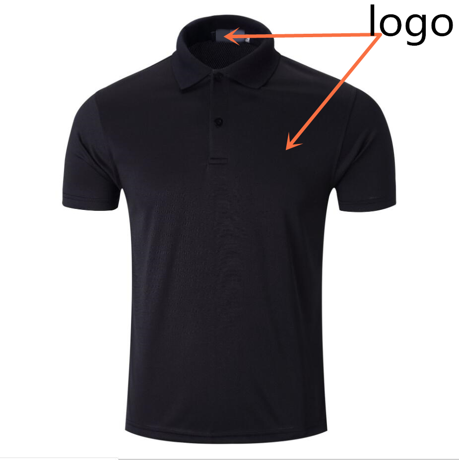 Same color logo Lapel   Polo   1:1 production sports P O LO men's French brand breathable sweat-absorbent and quick-drying