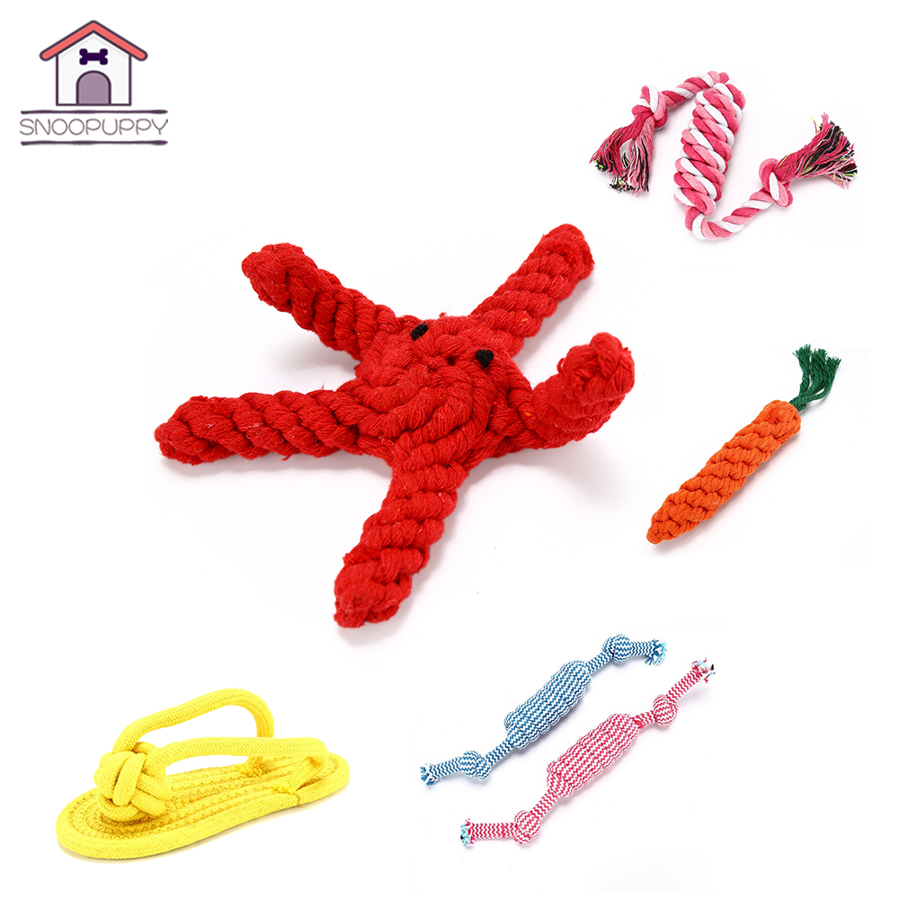 Pet Soft Dog Toys Funny Design Cotton Dog Rope Toys Durable Cotton Chew Toys Training Teething Toys for Small to Medium Puppy in Dog Toys from Home Garden