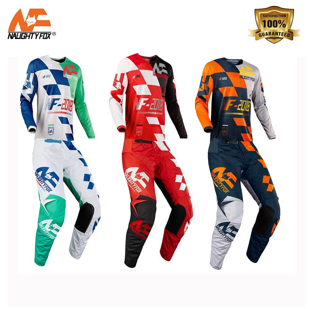 Naughty Fox Motorcycle Motocross SAYAK Set Combo 180 Jersey MX/ATV/BMX Dirt Bike Pants With Protective Pads free shipping naughty fox jersey