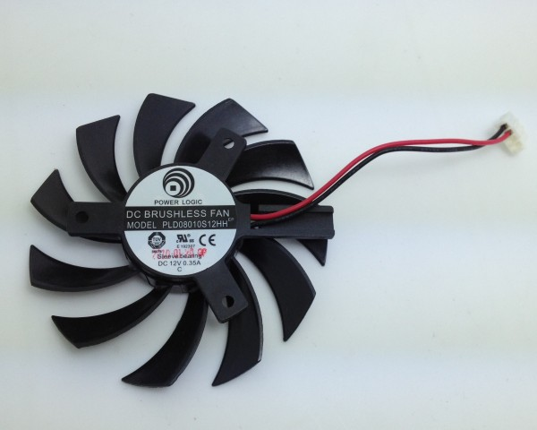 New Original gt440 gt620 <font><b>gt630</b></font> PLD08010S12HH 12V 0.35A graphics card cooling <font><b>fan</b></font> pitch 40MM diameter 75MM Only <font><b>fan</b></font> image