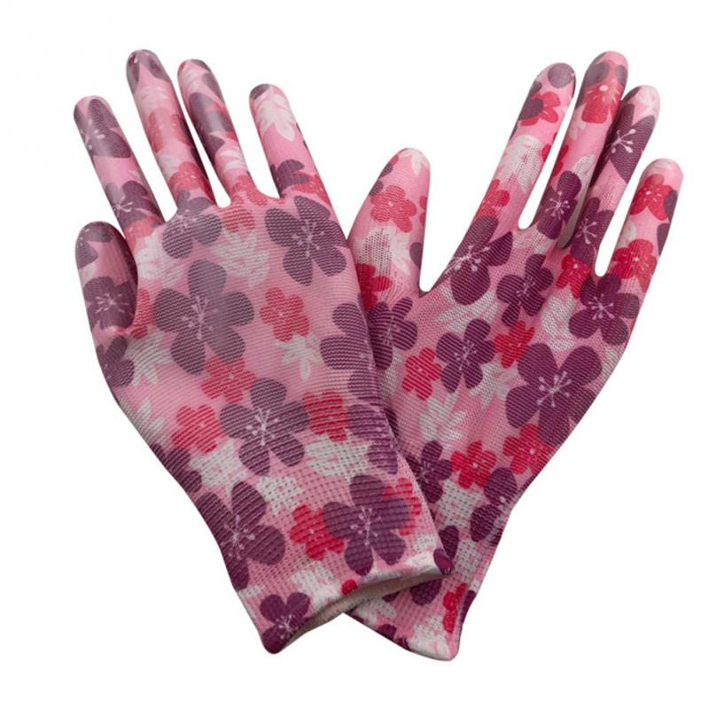 Women Non-Slip PU Working Gloves Gardening Wear Resistant Anti-Static Durable Floral Waterproof Hands Protection
