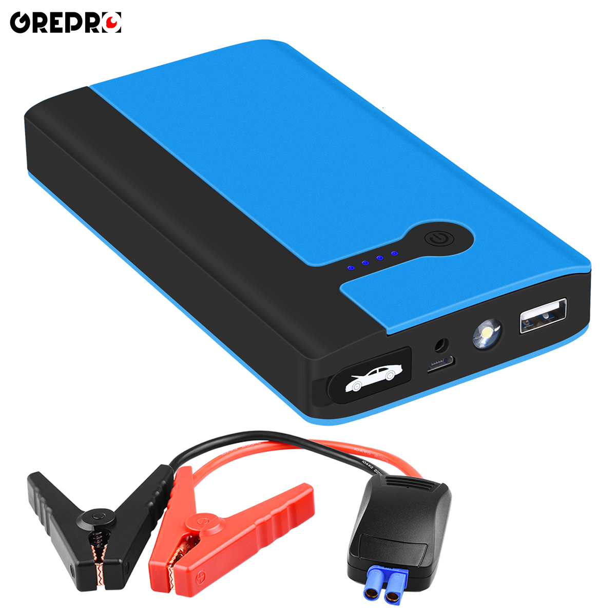 9000mAh Car Jump Starter 500A Vehicle Emergency Battery 12V Auto External Car Battery Multi-function Car Booster Power Bank(China)
