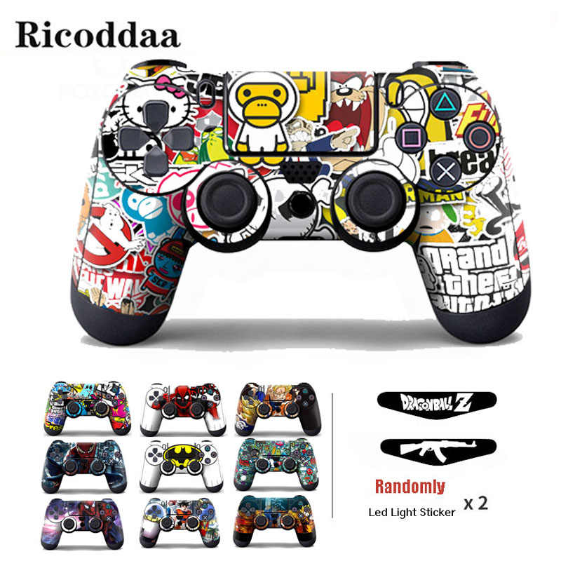 Vinyl Cover Sticker For PS4 Wireless Controller Gamepad Protective Skin Decal For Playstation 4 Controle Joystick