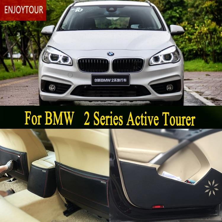 Tapis de voitures avant arrière porte Siège Anti-coup tapis De Voiture Accessoires de coiffure pour BMW 2 Série Active Tourer F45 2014 2015 2016 2018