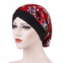 Fashion Women Turban Hat Print Muslim Hat Head Beanie Polyester Skullies Lady India Hat Fashion Cancer Chemo Hats for Female цена в Москве и Питере