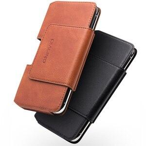 Image 3 - QIALINO mode affaires Style téléphone sac couverture pour Apple pour iPhone X luxe en cuir véritable Simple étui pour iPhone 5.8