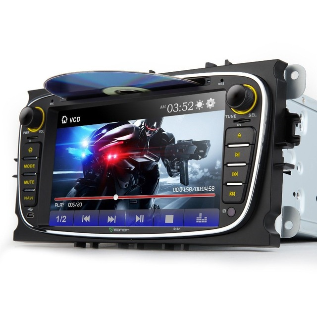 Eonon 7'' 2 DIN Car DVD Player GPS Navigator For Ford Mondeo Focus S-max Video CanBus Bluetooth FM Autoradio Media Auto Stereo