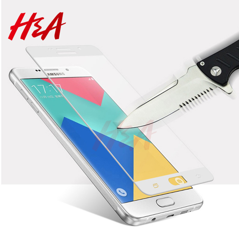 Galleria fotografica H&A Screen Protector For Samsung Galaxy A3 A5 A7 S7 2016 2017 Tempered Glass For Samsung S7 S6 J3 J5 J7 Protective Glass Film