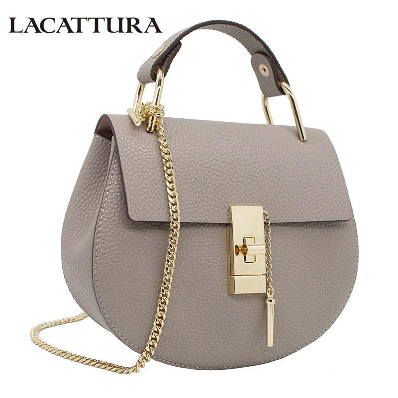LACATTURA women messenger bags cowhide leather handbag ladies Chain shoulder bags clutch fashion crossbody bag brand candy color шины nexen n blue hd plus 205 65 r16 95h